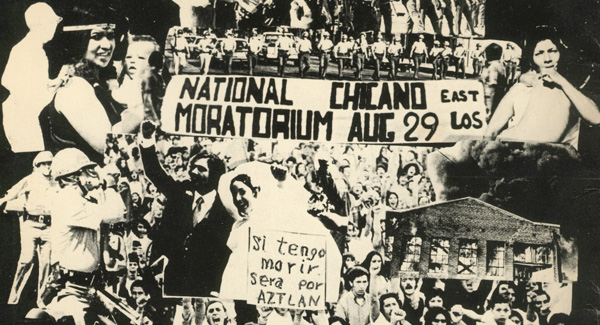 The August 29, 1970 Chicano Moratorium anti-war protest, attended by 20,000 persons.